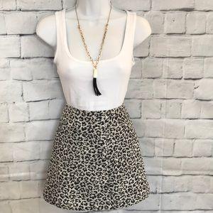 Abercrombie & Fitch Animal Print Mini Skirt Sz 4